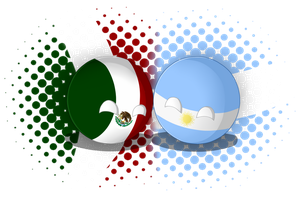 Argentina and Mexico ball by Asamy753