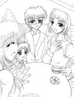 TMM: Laughing around the table by ellana