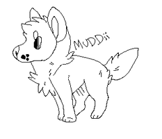 Wolf pup lineart 2 by MUDDii