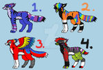 Free adoptables 1 CLOSED by BoxHeadRave