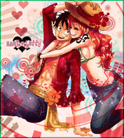 Nami & Luffy Créa.T 14 by MeiniNami