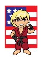 SF Chibified - 3 of 3 - Ken by TheOGCarrieP