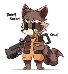 Rocket Raccoon and Groot by ILifeloser