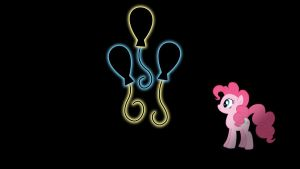 Pinkie Pie Glowing Cutie Mark Wallpaper 16:9 by alexram1313