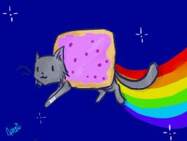 Nyan Cat by lagendarylugia