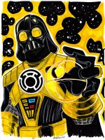Yellow Lantern Darth Vader by misfitcorner