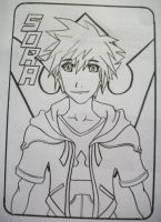 Sora - Uncolored by GGgunner47