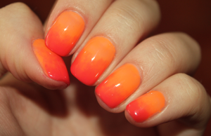 Orange and coral - ombre hybrid by mmkrys
