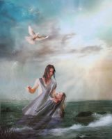 The Baptism of Jesus by designdiva3