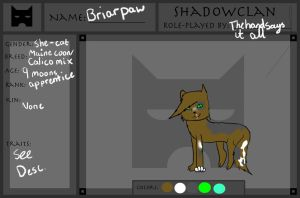 Shadowclan Application by thehandsaysitall