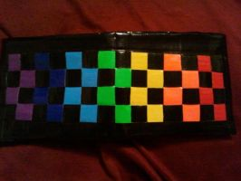 Rainbow Checkered Wallet by DuctileCreations