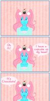 There's a cupcake on my head by bjc