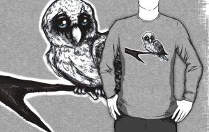 snowy owl shirt by nutburgers-official