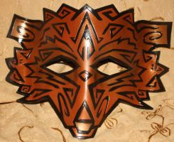 Tribal Wolf Mask - Bronze by Lady-Cass