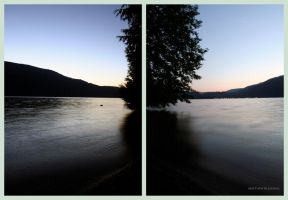 Cultus Lake Diptych by Bleezer