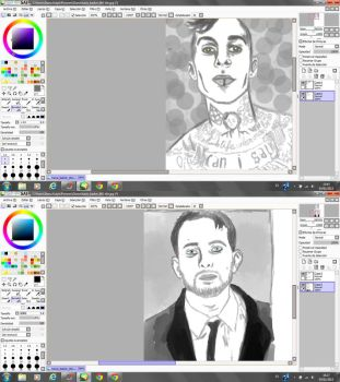Travis Barker and Dynamo by SoftwareVersionDiana