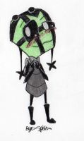 Reun ~ Invader Zim Style ~~GIFT ART~~ by EyonSplicer