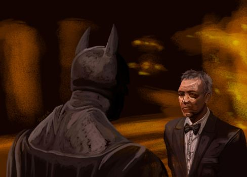 The bat and the butler by Raikea