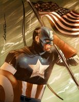 captain america colors by mikeorion22