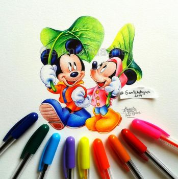 Mickey and Minnie by samiahdagher
