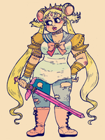 Pretty Warrior Sailor Moon by kicksatanout