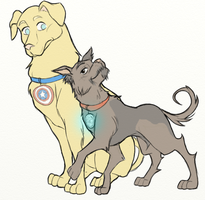 Stony dog by ASAMESHII