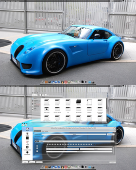 Arch KDE 4.9RC2 BE:SHELL Translucent Theme by CraazyT