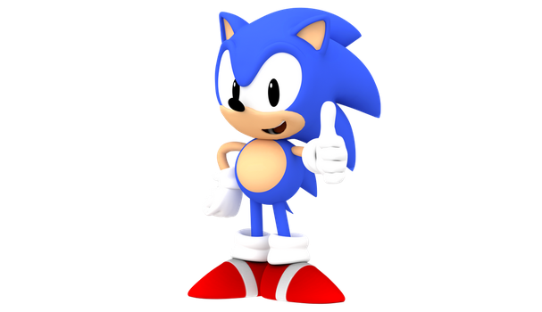 Classic Sonic Pose by Pho3nixSFM