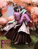 Commission - Byakuya and Rukia by fusspot