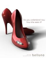How woman see shoes ad by gabrielroque