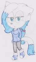 New F.C Snow the arctic fox by tesshoku15