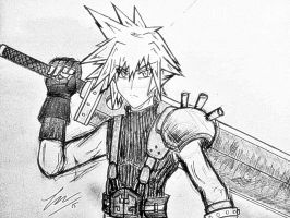 Cloud Strife  by ExusiaSword