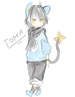 Toma my little Luxio by Leafei