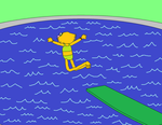 Zoe Jumping off the diving board by GrayComputer