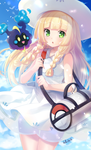 Lillie and Cosmog - Pokemon Sun/Moon by avallithia