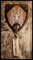 Horuri Leather Badge Commission by Nashoba-Hostina
