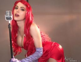 Katie Banks cosplay as Jessica Rabbit by CaptPatriot2020