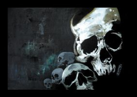 a series of skulls painting... by arty147