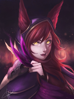 Xayah from League of Legends by Sinreii