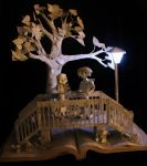 Parisian Bridge Book Sculpture by wetcanvas