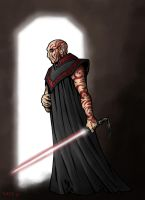 SW: Sith with Lightsaber by Asarea