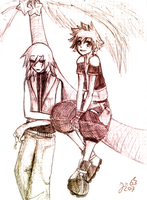 Riku and Sora :D by Sira123