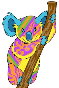 Colorful Koala by KM-cowgirl