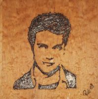 Hayden Christensen in wood by blacksagitar