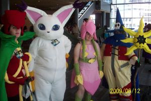 Digimon group 2 cosplay by Halowing