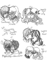 TRADITIONAL INK: All The OTPs! by InvaderIka