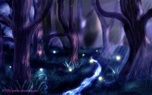 speed paint forest by Yowsie