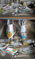 Adventure Time Shoes by CwieChanti