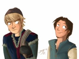 Kristoff and Eugene by heeyjayp17