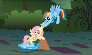 Attemting to free Fluttershy by SoraStrives